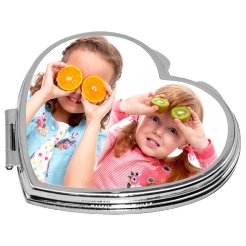 Miroir coeur personnalisé enfants facétieux