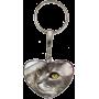 Porte clés coeur personnalisable exemple: chat