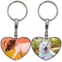 Porte clés coeur personnalisable exemple: chiens