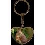 Porte clés coeur personnalisable exemple: écureuil