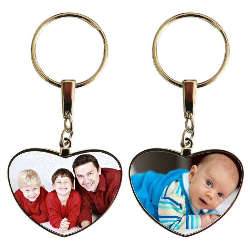 Porte clés coeur personnalisable exemple: famille