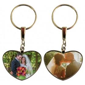 Porte clés coeur personnalisable exemple: mariage