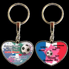Exemple de porte-clés en métal brillant personnalisé en sublimation avec photo d'enfant