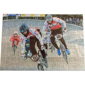 Démo Puzzle pilotes BMX en action à Besançon Coupe de France 2019
