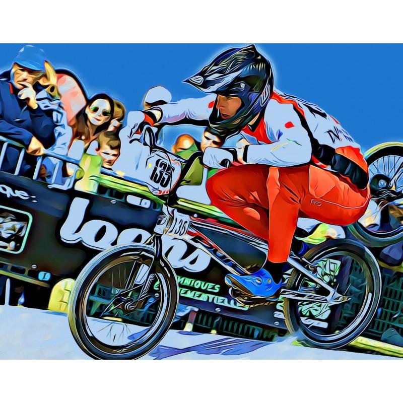 Poster exemple pilote BMX en action sur poster