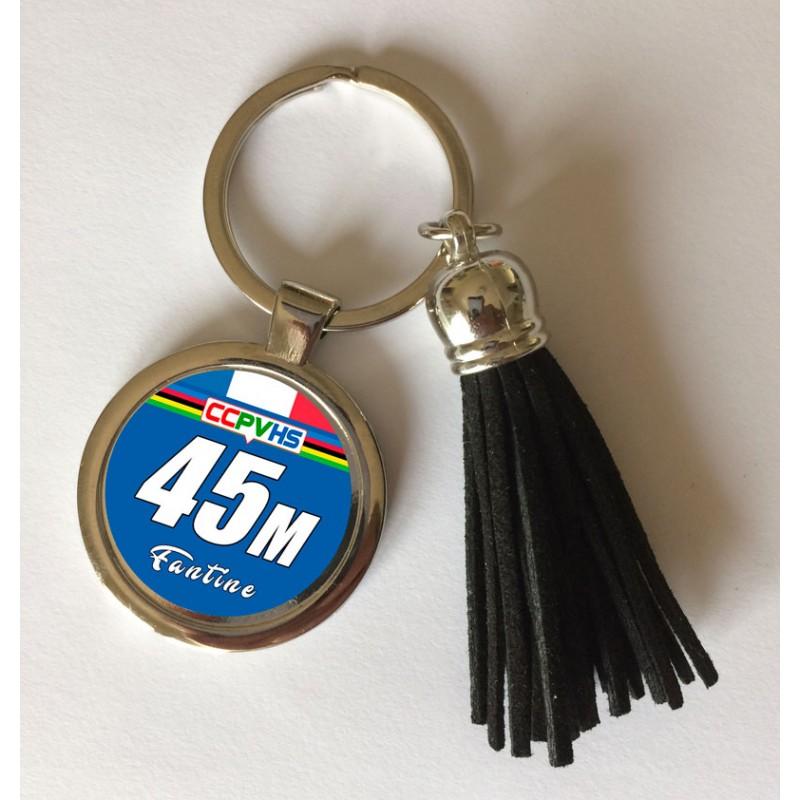 Porte clé à personnaliser fond bleu