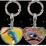 Porte clés coeur personnalisable exemple: oiseaux