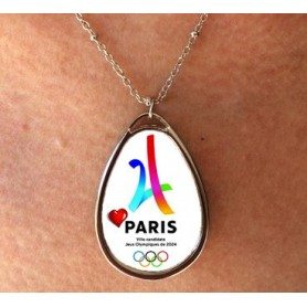 Pendentif à personnaliser simple face Paris 2024