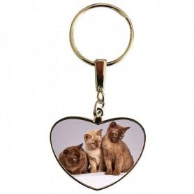 Porte clés coeur chats