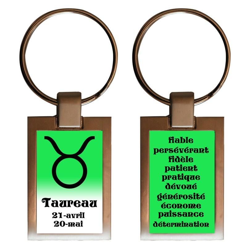 Porte clés recto/verso Taureau